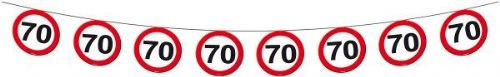Traffic Sign 70th Party Banner 12M Birthday Decoration